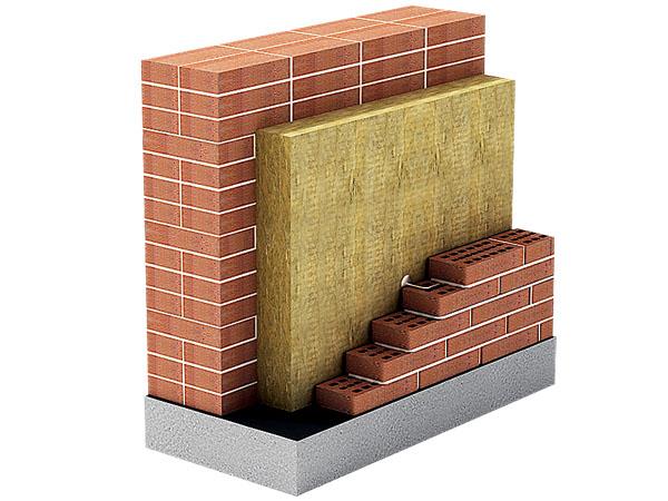 наружные стены из кирпича с утеплителем